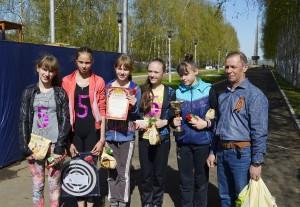 """СОШ №5  победили в категории """"Девочки 2001 года рождения и младше""""."""